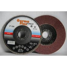 Круг лепестковый тарельчатый d125/22,2 А100 (плоский) (корунд)