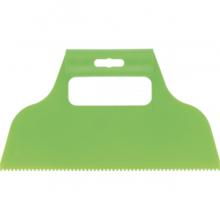 Шпатель для клея, пластмассовый, зубчатый 2х2 мм// СИБРТЕХ