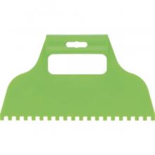 Шпатель для клея, пластмассовый, зубчатый 6х6 мм// СИБРТЕХ